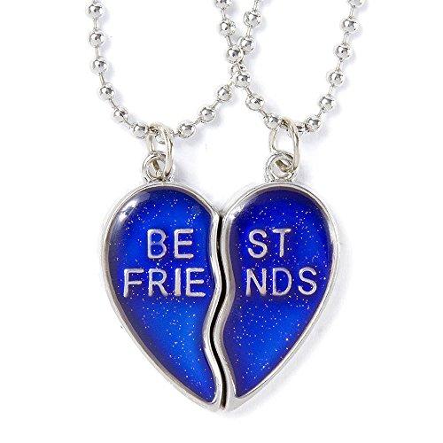 Claire'S Accessories Girls Best Friends Mood Heart Pendant Necklaces