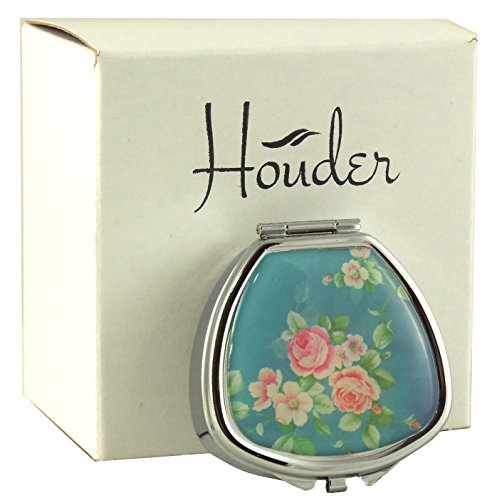 Designer Pill Box by Houder - Decorative Pill Case with Gift Box - Carry Your Meds in Style (Roses)