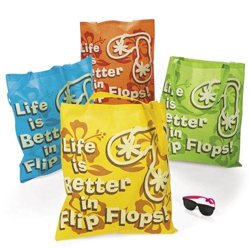 Life Is Better In Flip Flops Tote Bags (1 Dz) front-876082