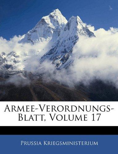Armee-Verordnungs-Blatt, Volume 17