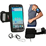 """Navitech Black Running / Jogging / Cycling Water Resistant Sports Armband For The iPhone 6 4.7"""""""