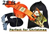 Slackline Kit with Training Line Tree Protectors Ratchet Protectors Arm Trainer 57 feet Easy Set up Instruction Booklet and Carry Bag Complete Set Outdoor fun for Family Adults Children Kids