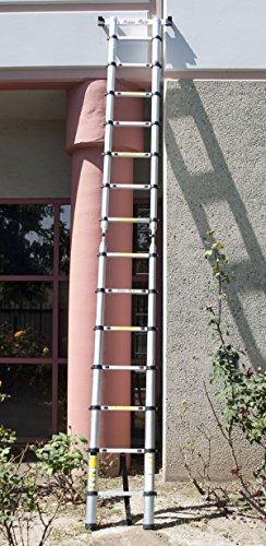 New 35Lbs Extendable 14.5Ft En131 Telescopic Ladder Aluminum Telescoping Ladder
