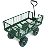 Green Blade Large 4 Wheel Garden Cart Trolley with Fold Down Sides ST300