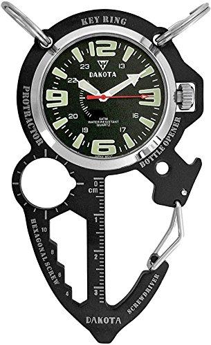 Dakota Watch Company Multi-Tool Clip Watch, Black (Dakota Stainless Steel Watch compare prices)