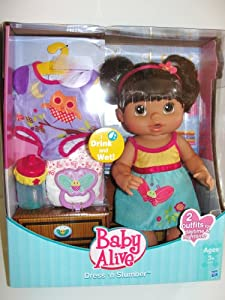 Exclusive Baby Alive Dress n Slumber Drink & Wet Doll ...