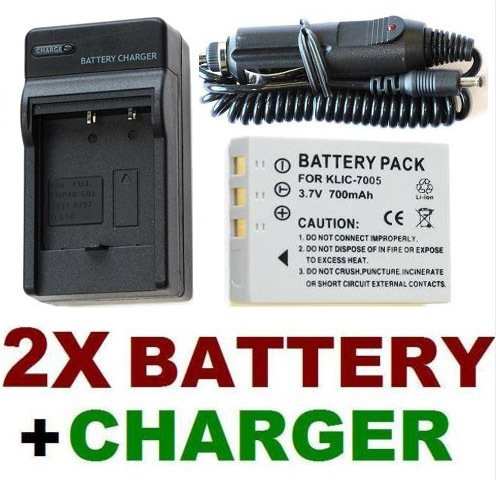 2X Battery + Charger KLIC-7005 For Kodak EasyShare C763