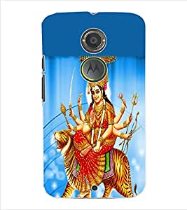 ColourCraft Lord Durga Back Case Cover for MOTOROLA MOTO X2