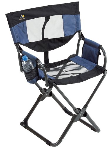 GCI Outdoor Xpress Lounger Director's Chair, Midnight