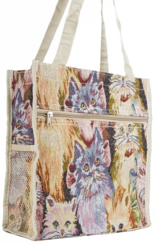 Cat Tapestry Tote Handbag Purse with Coin Purse