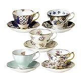 Royal Albert 100 Years of Royal Albert Teacups and Saucers, 1900-1940, Set of 5 ~ Royal Albert