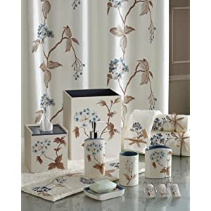 Croscill Christina Shower Curtain, 70 by 72-Inch, Multi-Color