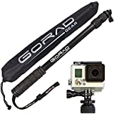 "GoPro Selfie Stick - Waterproof Telescoping Extension Pole for Hero 4 / 3+ / 3 / 2 / 1 Cameras - Aluminum Tripod Mount & Thumb Screw - Monopod Extends 17"" - 40"" - Nylon Carry Bag - Lifetime Guarantee"