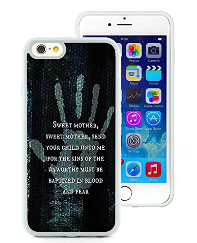 iPhone 6 Case,PC Beauty Custom Design 4 RPG Game The Elder Scrolls V Skyrim Black Print Hard Shell Cover for iPhone 5 White iPhone 6S 4.7 Inches Shell Case,TPU Cover