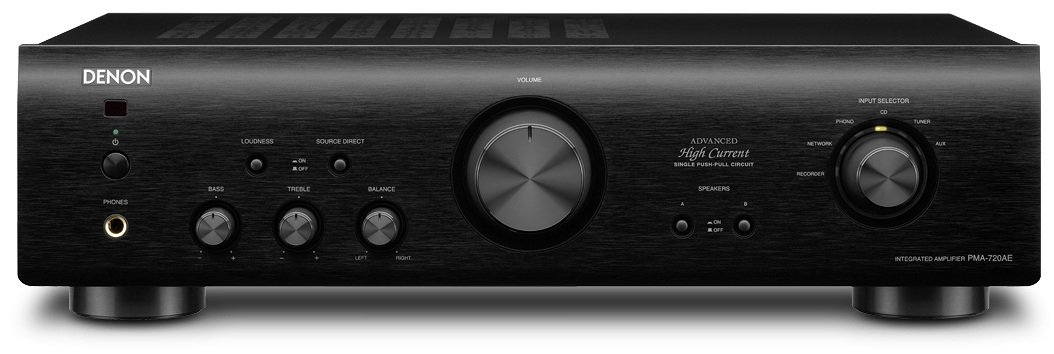 Denon PMA720AEBKE2GB Hifi Amplifier with HC Single Push Pull Circuit - Black