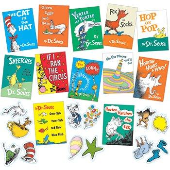 Dr. Seuss Books Mini Bulletin Board Set front-746273