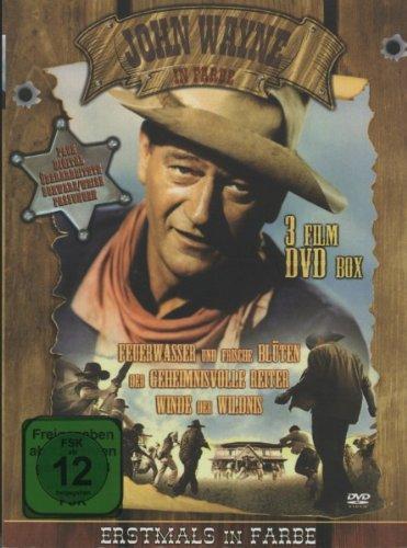 John Wayne In Farbe (3 Film DVD Holzbox)