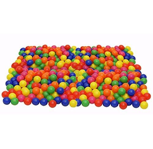 Maolanku 200 PC palline colorate Soft Plastic Ocean Ball Per bambino - Golf Ball Dimensioni
