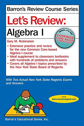 Let's Review  Algebra I (Let's Review Series) PDF