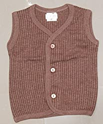 NammaBaby Winter Sleeveless THERMAL WEAR FRONT OPEN (0-3 Months) Brown