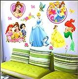 S.G.E(TM)Contemporary Wall Sticker Decal, Disney Princess, Medium Size_SGE33-1011