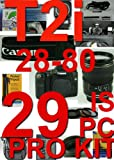 Canon EOS Digital Rebel T2I / 550D With 28-80mm 29 Piece Pro kit +++