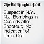 Suspect in N.Y., N.J. Bombings in Custody after Shootout; 'No Indication' of Terror Cell | Renae Merle,Matt Zapotosky,Amy B Wang,Mark Berman,Ellen Nakashima