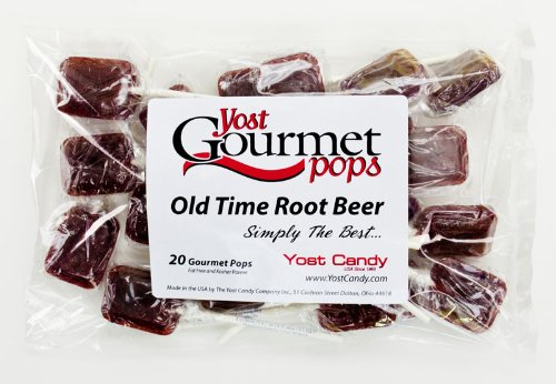 Yost Gourmet Pops, 20 Count Bag - Old Time Root Beer (Beer Lollipops compare prices)