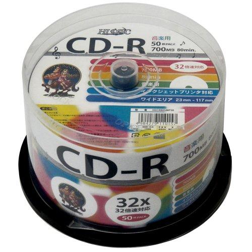 磁気研究所 音楽用CD-R 32倍速 50枚スピンドル HDCR80GMP5...