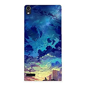 Abstract Cloud Back Case Cover for Ascend P6