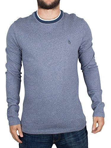 original-penguin-herren-jaspe-terry-steinig-logo-sweatshirt-blau-x-large