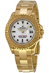 Rolex Yacht-Master Automatic White Dial 18kt Yellow Gold Ladies Watch 169628WSO