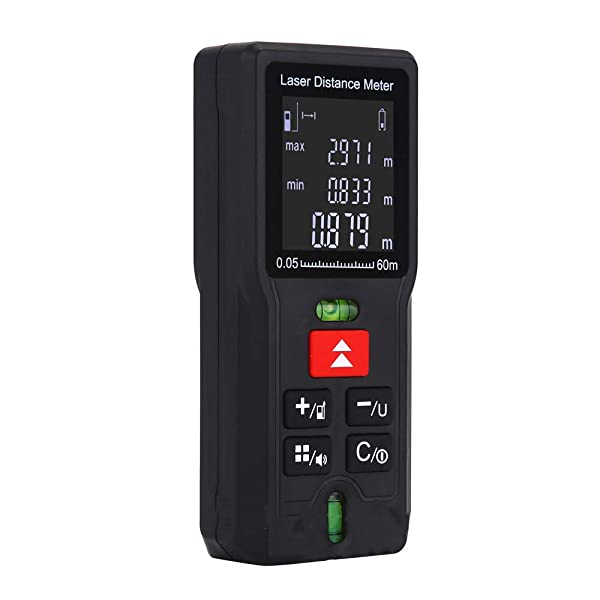 Laser Measure Distance Meter Device - 100m/328ft Professional Laser Digital Measuring Tool with 2 Bubble Levels LCD Display (Color: 100m/328ft)