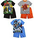 Skylanders Pyjama Collection 2014 Pajama 5 6 7 8 9 10 11 12 Boys Nightwear Sleepsuit New Short Swap Force L1 (5 - 6; 110 - 116, Green-Black)