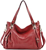 Heshe Soft Genuine Leather Collection Cross Body Shoulder Bag Satchel Women Handbag Purse Hobo W Zipper