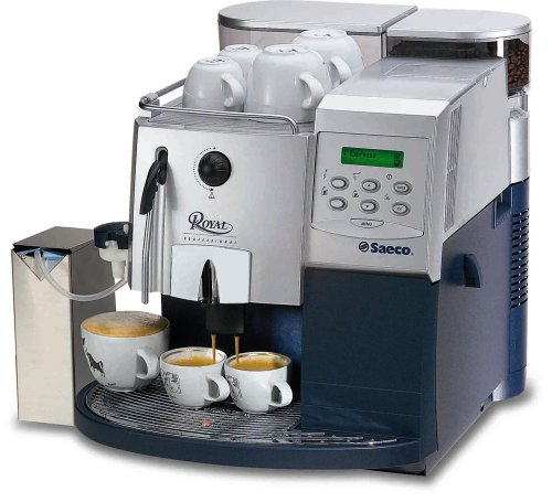 Saeco 21103 Royal Professional Fully Automatic Espresso Machine, Silver and Blue