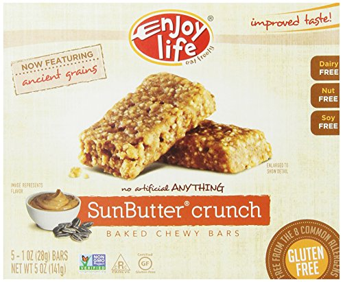 Enjoy Life SunButter Crunch Chewy Bars (Pack of 6)