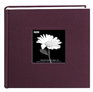 Pioneer Fabric Frame Cover Photo Album, Sweet Plum