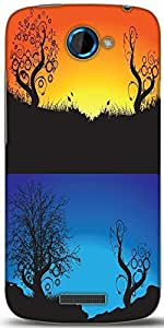 Snoogg Abstract Tree Background Designer Protective Back Case Cover For HTC One S