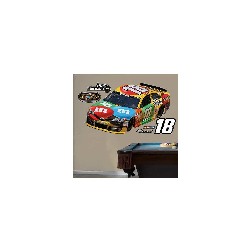 (48x81) Nascar Kyle Busch 2013 M&M's Car Wall Decal Sticker   Prints