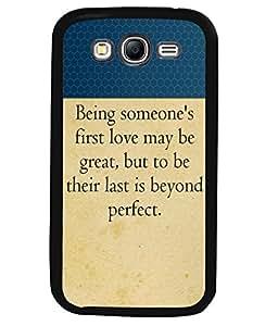 Printvisa 2D Printed Quotes Designer back case cover for Samsung Galaxy Grand 2 SM - G7102 / G7106 - D4308