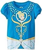 Disney Little Girls Princess Cinderella Girls Tee, Blue, 4T