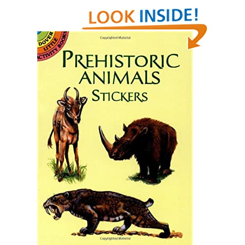 Prehistoric Animals Stickers (Dover Little Activity Books Stickers) Jan Sovak, Stickers and Dinosaurs