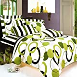Blancho Bedding - [Artistic Green] 100% Cotton 7PC MEGA Comforter Cover/Duv ....