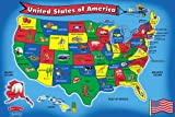 Melissa & Doug U.S.A. Map Floor Puzzle