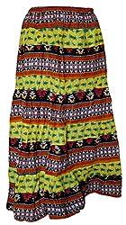 Hemansh Creations Women Long Skirt Standard Size Multi Color
