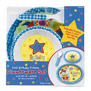 Hugs and Stitches Boy's Dish Set