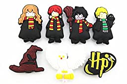 12 Harry Potter Shoe Charms for Jibbitz Croc Shoes & Wristband Bracelet