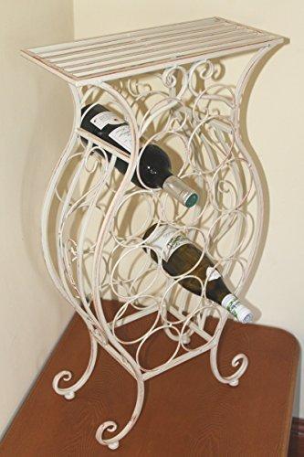 wine-racks-shabby-chic-style-free-standing-metal-framed-wine-rack-for-13-wine-bottles-with-shelf-red