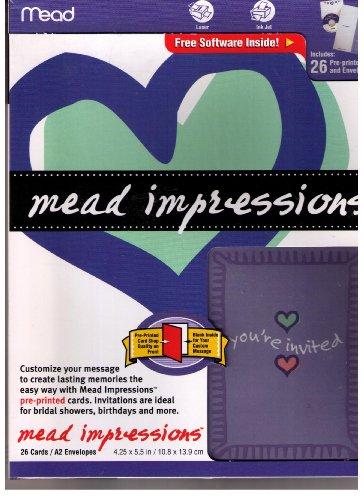 Mead Impressions Genral Invitations, 26/Invites front-624919
